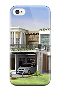 Best New Iphone 4/4s Case Cover Casing(modern Houses) 8110673K34607335
