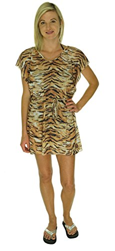Cia Maritima Animal Print Swimwear Cover Up Brown One Size
