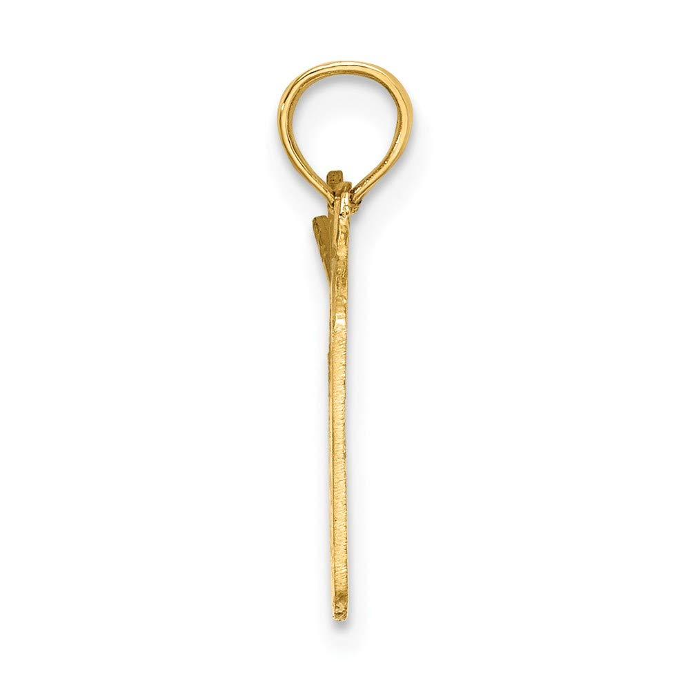 14k Yellow Gold Polished Drum /& Sticks Charm