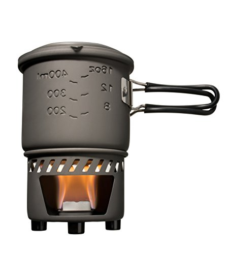 Fuel Stove - Esbit CS585HA 3-Piece Lightweight Camping Cook Set for Use with Solid Fuel Tablets