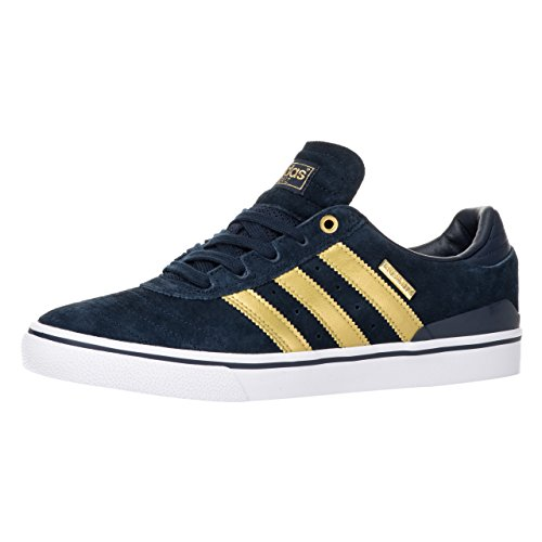 adidas Skateboarding Busenitz Vulc ADV 10 Year Anniversary, collegiate navy-metallic gold-halo blue white, 13