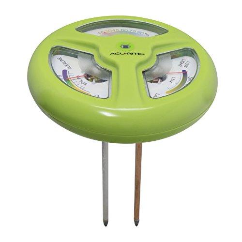 AcuRite 01413M 3-in-1 Gardening Meter: Moisture Meter, pH Meter, UV Light Intensity Meter