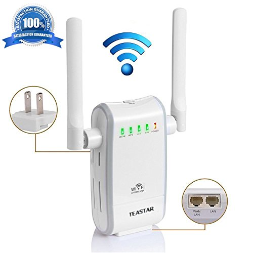 300Mbps WiFi Router Repeater Mini Portable Wireless Range Extender Hotspot Access Point AP Signal Booster Amplifier High Speed Network Router AP Client Bridge Repeater Modes with WPS