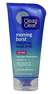 Clean & Clear Morning Burst Detoxifying Facial Scrub, 5 Fluid Ounce