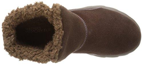 Skechers GO Walk MoveChugga Imprint - zapato botín de piel mujer Chocolate