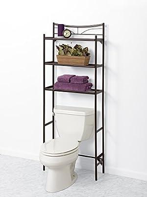 Zenna Home 2723HB, Hawthorne Bathroom Spacesaver, Bronze