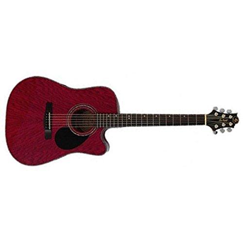 Samick Greg Bennett Design D4CE Acoustic Guitar, Transparent Red by Samick
