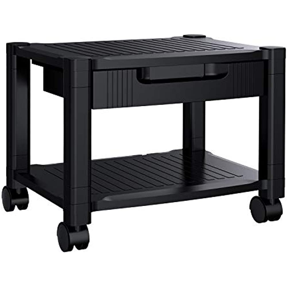 Details About Printer Stand Under Desk Cable Management Storage Drawers Office Space 4