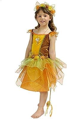 Bosque marfil Disfraz infantil Hada marrón amarillo: Amazon.es ...