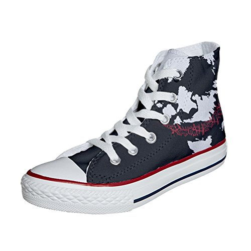 Artisanal Face produit Coutume Chaussures Adulte Customized Art Converse q6XATT
