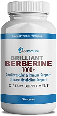 Berberine 1000mg Supplement Complex for Blood Sugar Support, Blood Pressure, Cholesterol and Weight Management – Professional Grade Premium Herb, 60 Capsules