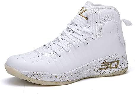 JIYE Mens Womens Basketball Shoes Performance Shock Absorption Basketball Boots Trainer Sneakers