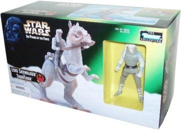 Star Wars Year 1997 The Power of the Force Series Playset - Luke Skywalker in Exclusive Hoth Gear Figure with Blaster Pistol and Tauntaun