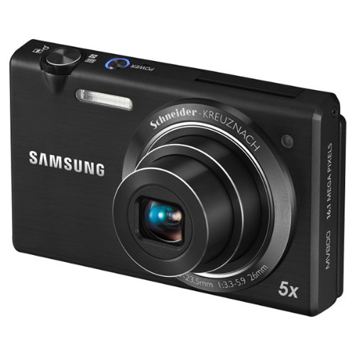Samsung Multiview MV800 16.1MP Digital Camera with 5x Optical Zoom (Black) (Discontinued by Manufacturer)