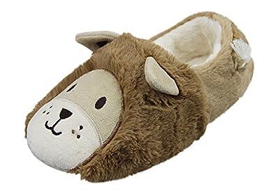 Amazon.com | Womens Mens Indoor Warm Fleece Slippers, Cute Cartoon ...