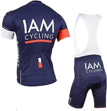TIDH Verano Equipacion Conjunto de Ropa Ciclismo para Hombre Maillot Ciclismo Mangas Cortas y Culotte Pantalones Cortos Bicicleta con 5D Gel Pad