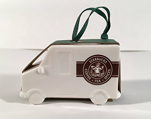Starbucks 2016 Delivery Truck Ceramic Christmas Ornament (Christmas Ornament Cup)