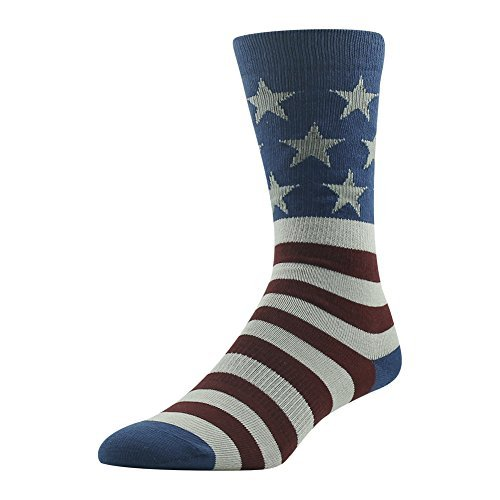 Thanksgiving Dress Socks, Fun Novelty Socks, Ristake Men's Women's The Fourth Bannner Fun Crazy Colorful Unique Fashionable Gift Midcalf Party Crew Dress Socks 1 Pair, Medium (Wonder Woman Running Outfit)