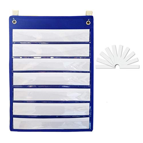 (Magnetic Pocket Charts for Daily Schedule Sentence Strips Course Demonstration Exercise Training Progress with 10 Blank Reusable Dry Erase)