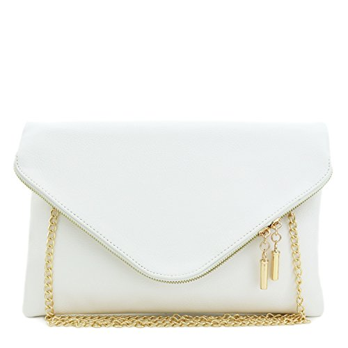 Large Envelope Clutch Bag with Chain Strap ()