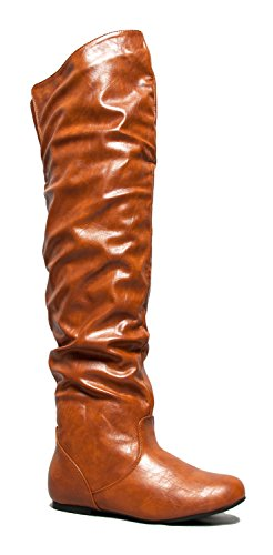 Knee Basic Over Flat VICKIE Casual the HI Boot Thigh Slouchy High 5UX5pqwF6