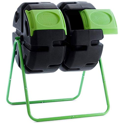 FCMP Outdoor HF-DBC4000 Dual Body HOTFROG Tumbling Composter, 37gallons (Outdoor Composter Small)