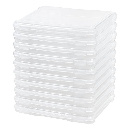 IRIS Slim Portable Project Case, 10 Pack, Clear