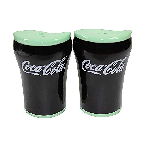 (Coca-cola® Coke Ceramic Nesting Salt and Pepper Shakers Collectible)