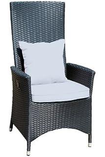 AuBergewohnlich Ambientehome Verstellbarer Polyrattan Sessel Stuhl Nairobi, Schwarz