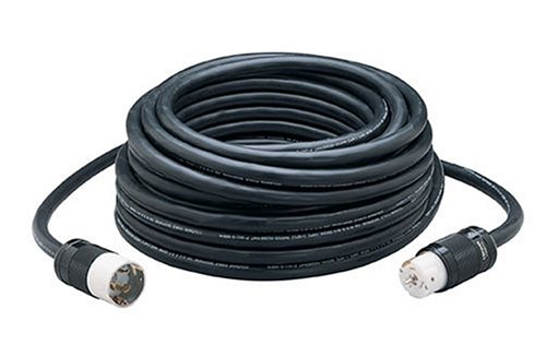 50' Twist Lock Cord (Coleman Cable 1938 50 Amp Twist-Lock Temporary Power Cord, 50-Foot)