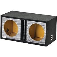 Atrend GFX Series Dual Vented Divided Chamber 10 Subwoofer Enclosure (Platinum Wood Grain)