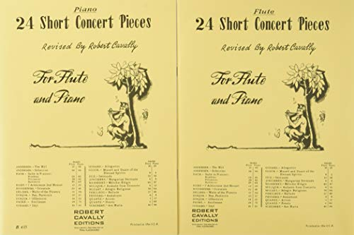 Solo Flute Pieces - 24 Short Concert Pieces: Flute and Piano (2-book set, flute and piano)