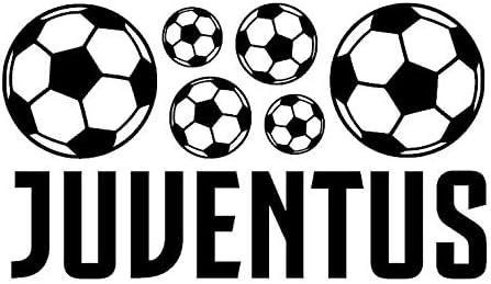 Juventus FC Pelotas de futbol Pegatina de pared Arte deco Decoración de la habitación Muchachos Equipo de fútbol Logo Signo Etiqueta engomada libre del coche Cresta Fútbol Pegatina Placa serie A: Amazon.es: