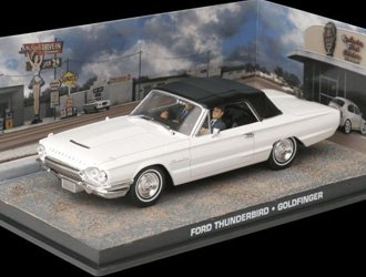Ex Mag Ford Thunderbird Convertible Diecast Model Car from James Bond Goldfinger ()