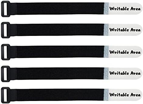Mr-Label Einzigartige, wiederbeschreibbare Kabelbinder - Wiederverwendbare Kabelbinder - Identifizieren Sie schnell Kabeletiketten - für Kabelmanagement (20 Stück Verschluss)