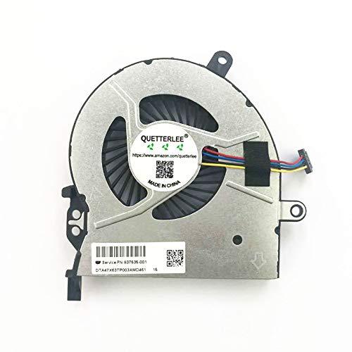 QUETTERLEE Replacement New CPU Cooling Fan For HP Probook 450-G3 450 G3 450G3 455 G3 470 G3 Laptop 837535-001 FAN