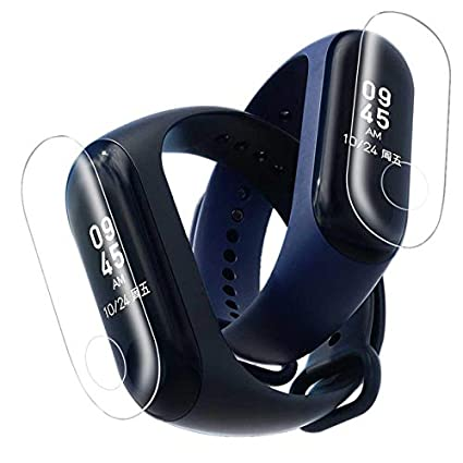 Mini Mexx 5PC Tempered Glass Screen Belt Hole Screen Protector Film for Xiaomi Mi Band 3