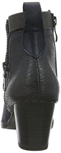 Marco Tozzi Premio Damen 25301 Kurzschaft Stiefel Blau (NAVY ANTIC COM 820)
