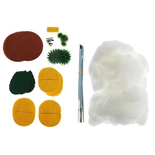 baoblaze Sun花フェルトキットDIY手作りクラフト裁縫材料パッケージfor Childrenの商品画像