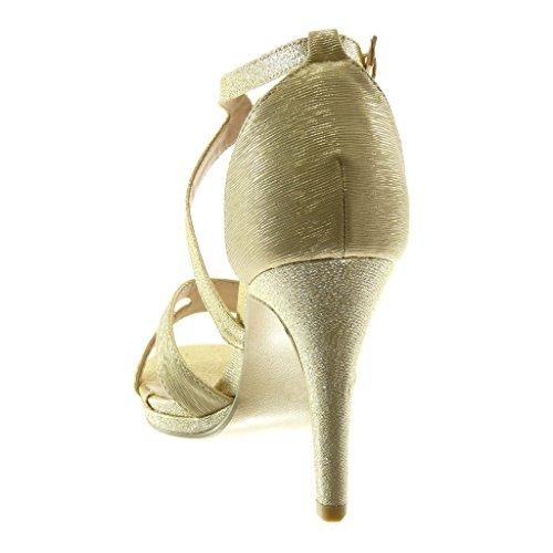 Sexy Oro cm Donna Angkorly Decollete Paillette Tanga Tacco Tacco Scarpe Alto Stiletto Lucide Moda 5 Stiletto con Sandali 9 qAHASw0xB