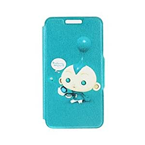 LZX Kinston Cute Baby Pattern PU Leather Full Body Cover with Stand for iPhone 6 Plus