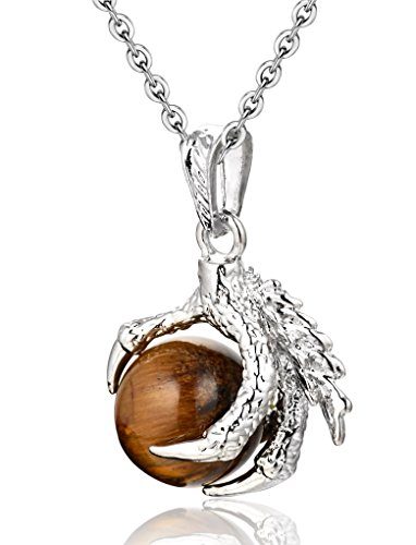 WRCXSTONE Gemstone Precious Necklace Stainless
