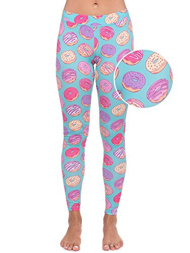 Donut Costumes For Adults (Donut Leggings - Doughnut Costume Tights for Women: X-Large)