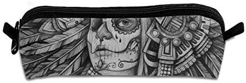 CYMO Estuche de Lona para lápices con diseño de Calavera y Tatuaje ...