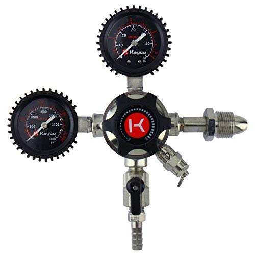 Kegco LHU5N Elite Series Dual Gauge Nitrogen Draft Beer Regulator ()