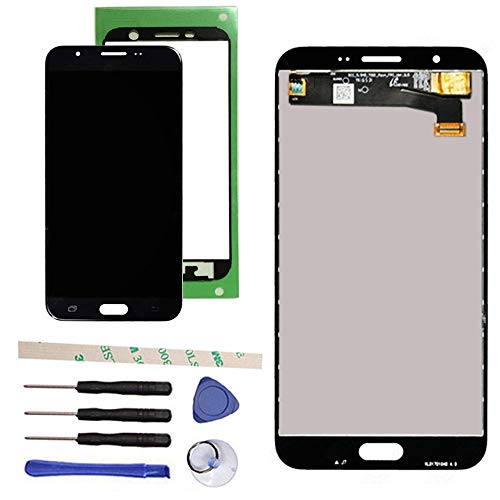 Draxlgon Tested LCD Display Touch Screen Digitizer Assembly for Galaxy J7 Prime 2017 J727 J727U SM-J727T SM-J727T1 J727R4 J727V J727P Sky Pro SM-J727A SM-J727VL J7 2017 Perx J727PZKASPR 5.5'' (Black) by Draxlgon