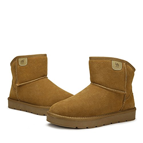 CAMEL Mens Snow Boots With Warm Fur Booties Color Camel Size 42 M EU sKNfzT