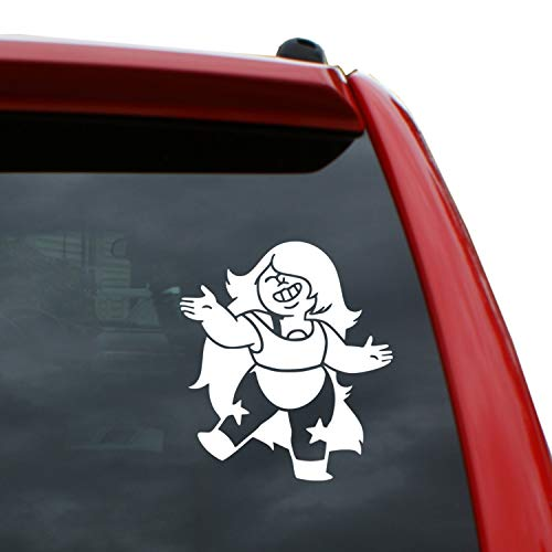 (Black Heart Decals & More Steven Universe/Amethyst Vinyl Decal Sticker | Color: White | 5