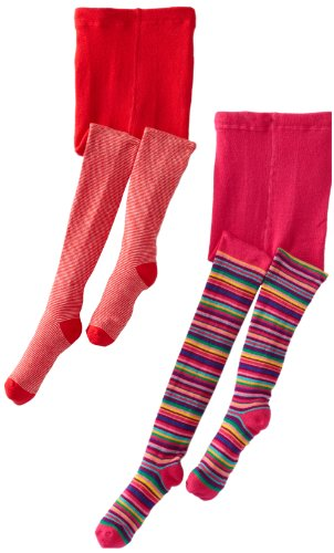 Country Kids Little Girls Stripe 2 Pack Tights