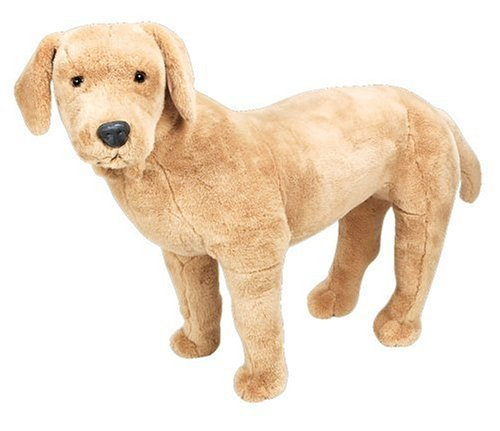 Yellow Lab Stuffed - Melissa & Doug Giant Yellow Labrador - Lifelike Stuffed Animal Dog (nearly 2 feet tall)